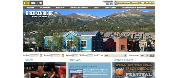 breckenridge vacations, vail website design, vail marketing firms, website developers
