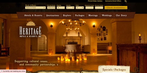 vail web design, marketing agencies, ad agencies, heritage hotels and resorts, new mexico hotels