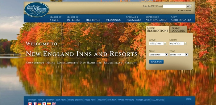 website design, website developers, travel websites, new england inns and resorts